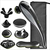 Wahl Lithium Ion Deep Tissue Cordless Percussion Therapeutic Handheld Massager for Muscle, Back, Neck, Shoulder, Full Body Pain Relief – Use at Home, Car, Office, or Travel, Grey – Model 4232-300