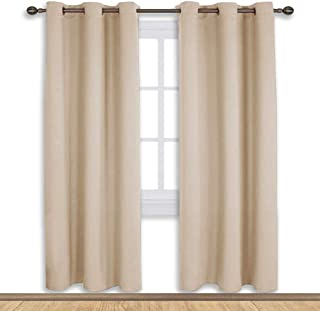 NICETOWN Thermal Room Darkening Draperies Curtains, Thermal Insulated Grommet Room Darkening Drape Panels for Bedroom (Cream Beige, 2 Panels, W42 x L72 -Inch)