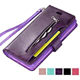 ZCDAYE Zipper Wallet Case,Premium Magnetic Multi-functional
