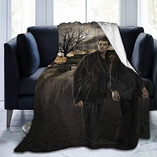 GEHIYPA The Vamp-ire Dia-ries Flanell-Überwurf, Decke, ultraweiche Tagesdecke, Mikrofaser, langlebig, Heimdekoration, perfekt für Couch, Bett, 127 x 101,6 cm