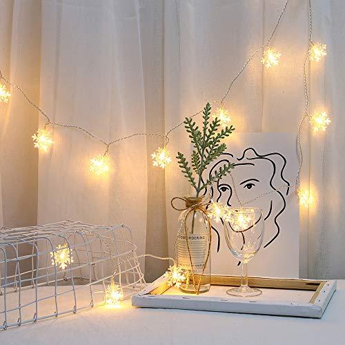 Lixada 20LEDS Cadena de Luces USB Guirnaldas Luminosas de Exterior Luces Decorativas de Luces de Cadena de Bolas para el Hogar de la Boda...