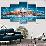 Yiiuii Michael Phelps Schwimmer Sportmalerei 5 Stück