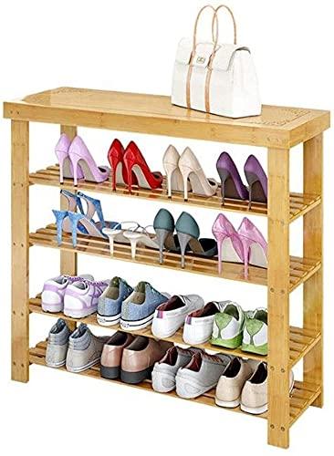 IENPAJNEPQN 4-Tier bambú Zapato Estante de Almacenamiento de Ahorro de Espacio de Zapatos Torre Organizador para el Armario Corredor Entrada, Durante 16 Zapatos Par