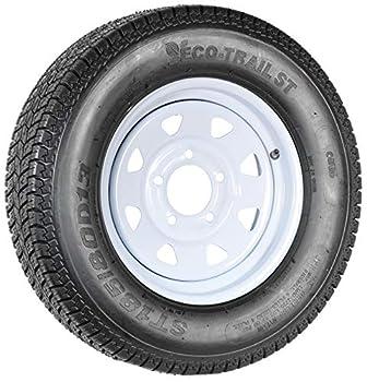 Trailer Tire Rim ST185/80D13 185/80D-13 13 ST White Spoke Wheel Boat RV Spare