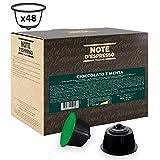 Note D'Espresso Cápsulas, Chocolate a la Menta Exclusivamente Compatibles con cafeteras de cápsulas Nescafé* y Dolce Gusto* 48 Unidades da 10g, Total: 480 g