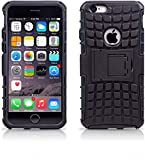 Fitsmart Shockproof Armor Heavy Duty Dazzle Case with Stand Double Protective Back Cover for Apple...