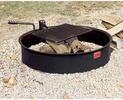 Pilot Rock Steel Fire Ring with Grate - Popular Diameter 32in. Selling and selling Cooking