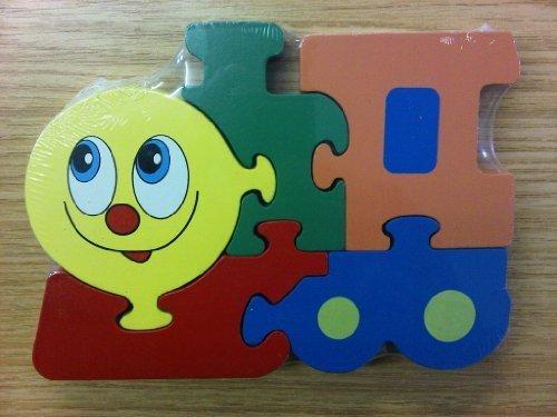 Enfants Train En Bois Forme Transport Puzzles 12 mois