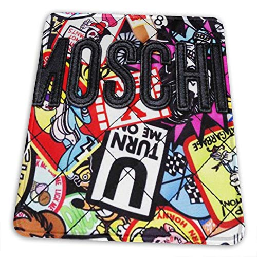 Moschino Collages Mouse Pad Non-Slip Rubber Base for Office Gaming Computer with Stitched Edge 10x12 in