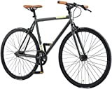 BIKESTAR Vélo de Route VTC 28 Pouces CTB | Vélo Urbain Fixie Single Speed Cadre 53 cm | Anthracite