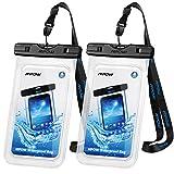 Mpow Wasserdichte Handyhülle Waterproof Phone Case 7,0 Zoll (2 Stück) Handy Wasserschutzhülle...