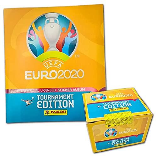 Panini UEFA Euro 2020™ Tournament Edition,100 Stickertüten mit Sammelbum, offizielle Stickerkollektion