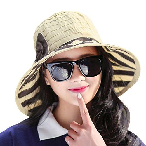YSXY Weiblicher Sonnenhut Hut Falten Strandhut UV-Schutz Sonnenmütze Faltenstoffmütze Schirmmütze Eimer Hut großer Rand Sport Outdoor Hüte