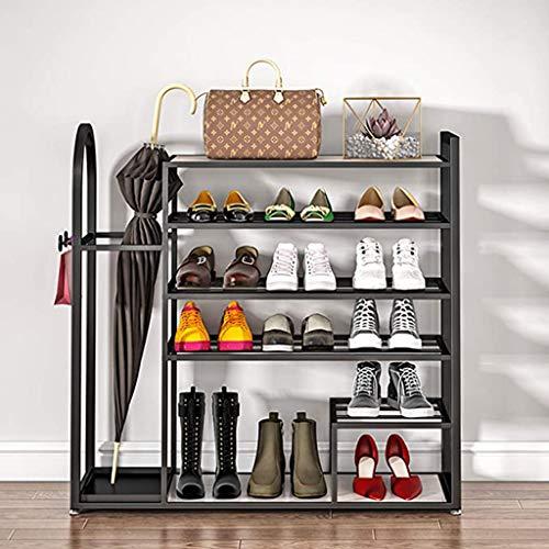 XIALIUXIA Zapatero Zapatero con 5 Niveles, Estante para Zapatos, Sistema De Almacenamiento De Metal, para Pasillo, Entrada, Armario, Dormitorio, Estilo Industrial, Resistente, Fácil Montaje,B,80CM
