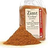 Zimt Ceylon 100 Gramm gemahlen, hochwertiges Zimtpulver zum Würzen, ohne Zusatzstoffe & ohne Geschmacksverstärker - Bremer Gewürzhandel