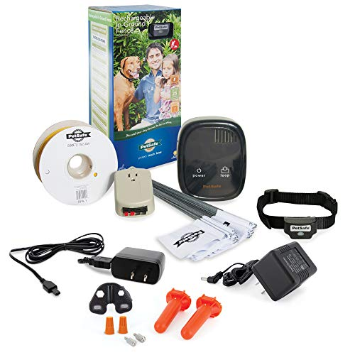 PetSafe Rechargeable In-Ground Fence for Dogs and Cats over 5lb and Waterproof Receiver Collar with...