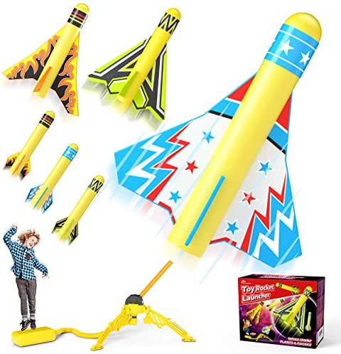 Jasonwell Toy Rocket Launcher for Kids Sturdy Stomp Launch Toys Fun Outdoor Toy for Kids Gift product image