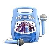 Frozen 2 Bluetooth Portable MP3 sing along boombox Karaoke Machine with Light show