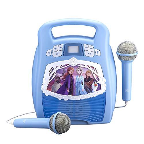 Karaoke MP3 Frozen 2 Boombox voor kinderen met Bluetooth en lichtshow incl. microfoon