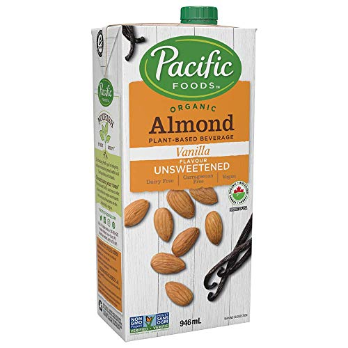 Pacific Foods Organic Almond Vanilla Non-Dairy Beverage, Unsweetened Orginal, 946ml
