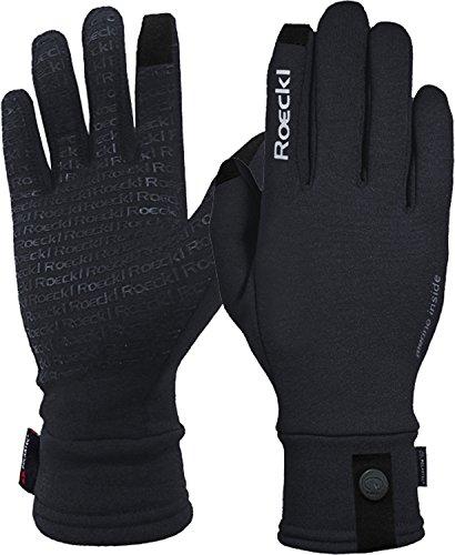 Roeckl Erwachsene Katari Handschuhe, Schwarz, 9