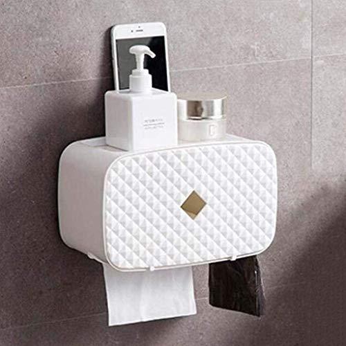 KMILE Caja de Papel de Papel higiénico a Prueba de Agua Caja de pañol