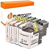 Bubprint 4 Druckerpatronen kompatibel für Brother LC-22U LC22U LC-22UBK LC22UC LC22UM LC22UY für DCP-J785DW MFC-J985DW Schwarz Cyan Magenta Gelb