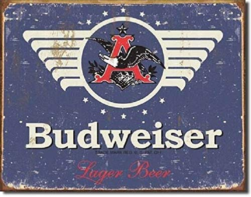 SRongmao Anheuser Busch Budweiser Bud 1936 Vintage Look Weathered Style Metal Tin Sign 16x12in New