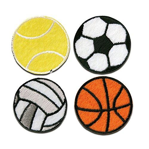 Set tenis fútbol voleibol baloncesto deporte - Parches termoadhesivos bordados aplique para ropa