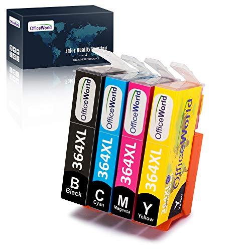 OfficeWorld Reemplazo para HP 364 364XL cartuchos de tinta