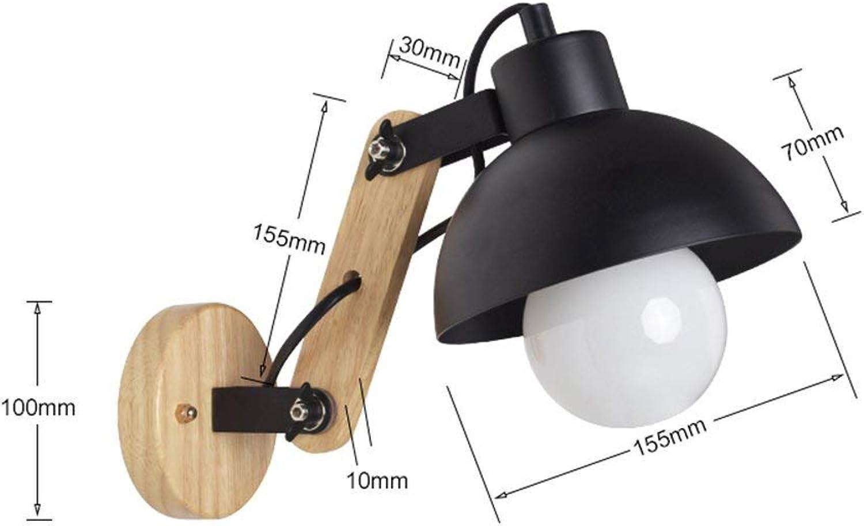 Einfache moderne Schlafzimmer Nachttischlampe Wohnzimmer Lesung des Lichtes Kinder Zimmer Schlafsaal Teleskop Wandleuchte (Farbe  Schwarz)
