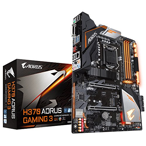 Gigabyte H370AORUS Gaming 3 - Placa base (Intel H370, S 1151, DDR4, SATA3, Dual M.2, 2-Way CrossFire), color negro