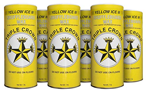 Fantastic Prices! TRIPLE CROWN Yellow Ice III Shuffleboard Wax (Yellow Ice III 6-Pack)