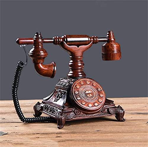 TAIDENG Clásico Europeo Retro teléfono Fijo teléfono Vintage 60s de Moda de Madera con Cable telefono Retro casero Accesorio decoración Antiguo teléfono (Color : C)