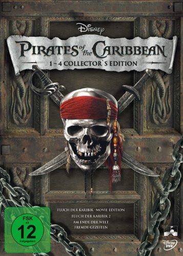 Pirates of the Caribbean - Die Piraten-Quadrologie (8 DVDs)