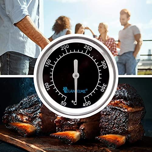 Lantelme Grill Thermometer Edelstahl zum Einbau an Grillhaube oder Deckel Grilltemperatur analog bis 400°C 5831