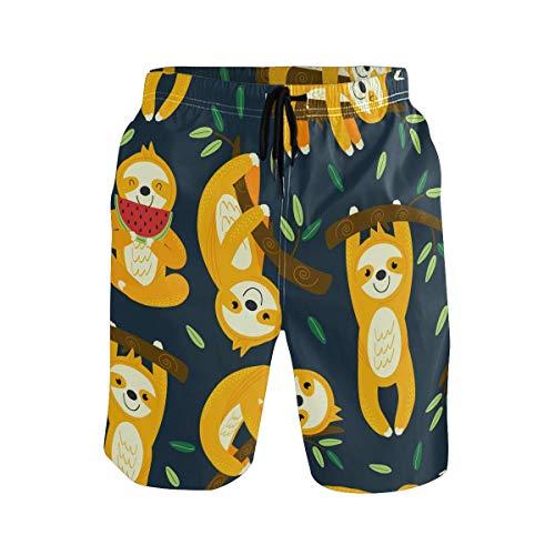 Kslae Schattige luier met boom zwembroek voor mannen Boy Quick Dry Beach Shorts met zakken