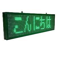 多機能 多言語 屋内用 LED電光看板 高輝度 LED電光掲示板 緑色 LED看板、操作が簡単で持ち運びが簡単です
