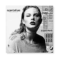 Taylor Swift Taylor テイラー·スウィフトテイラー 木製 額縁 フォトフレーム 壁掛け 木製 横縦兼用 絵を含む 40×40cm