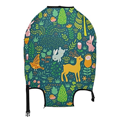 AJINGA Divertida máscara de cocodrilo de dibujos animados viaje equipaje protector maleta cubierta S 18-20 pulgadas