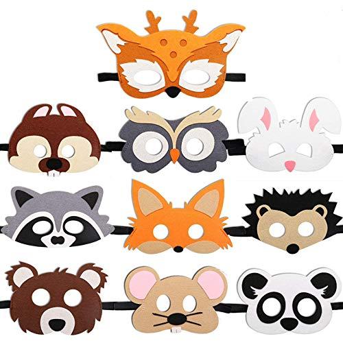 10 Pack Animal Felt Masks Cute Farm Animal Masks for Kids、Farm...