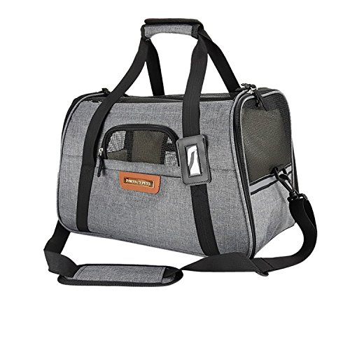 Pawfect Pets Airline Approved Pet Carrier Soft-Sided Cat Carrier and Dog Carrier...
