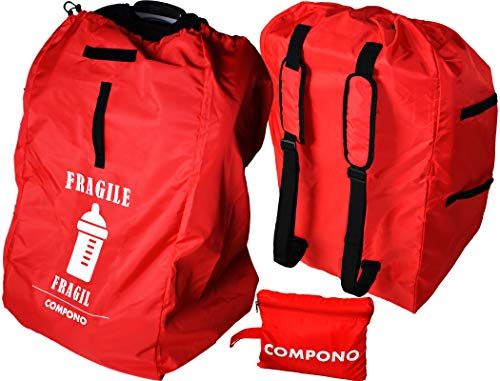 COMPONO Premium Car Seat Travel Bag - Best car seat Backpack with Padded Straps for Easy Carry
