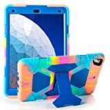 iPad Air 10.5' 2019/iPad Pro 10.5 2017 Case, ACEGUARDER Ultra Protective Rugged Cover with Kickstand for Kids Shockproof Impact Resistant - Icecream/Blue