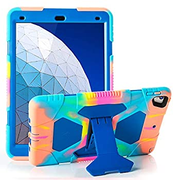 iPad Air 10.5  2019/iPad Pro 10.5 2017 Case ACEGUARDER Ultra Protective Rugged Cover with Kickstand for Kids Shockproof Impact Resistant - Icecream/Blue