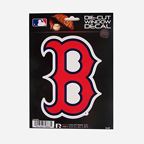 MLB Red Sox Boston ' B Logo' Medium Die Cut Decal, 9' x 5' x 0.2', Team Logo