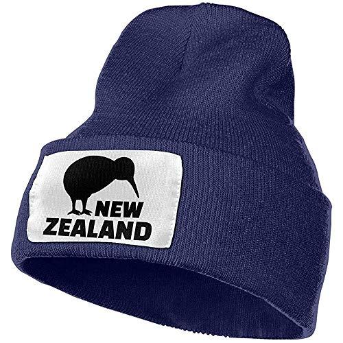 W-WEE New Zealand Kiwi Slouchy Unisex Slouch Beaniemützen - Dicke, warme und stilvolle Wintermützen in Schwarz