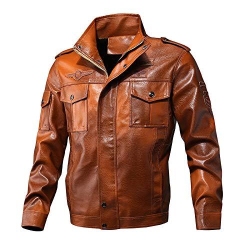 YJWSPD El Hombre Delgado Caliente del Invierno Abrigo De Otoo e invierno ms chaqueta de terciopelo-khaki_XL