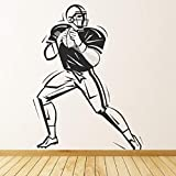 56X73Cm American Rugby Sports Stickers Muraux Rugby Sport Casque Hommes Balle Decal Enfants Chambre Gym Décoration Mur