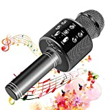 SunTop Microfono Karaoke Bluetooth, Bluetooth Altoparlante, Microfono Wireless, Bluetooth Karaoke Player, AUX wireless Karaoke per PC, laptop, iPhone, iPad, smartphone Android